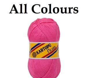 sock yarn, Kartopu Flora 100% Acrylic yarn, crochet blanket yarn, baby yarn, soft yarn, winter yarn, Turkish yarn 100gr