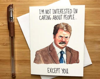 Funny Ron Cute Love Card, Cute Valentine Card for Boyfriend, Anniversary Card, Love Greeting Cards, Romantic Card, For Husband, For Wife