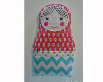 Personalised Heat Pack - Custom Made Babushka - Hot & Cold Pack Pals – Character Heat Bag and Cold Pack