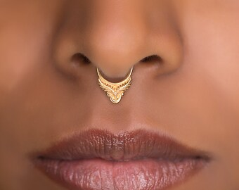 Indian Septum Ring. Indian Septum Ring. Tribal Septum Ring. Septum Piercing. Fake Septum. Tribal Septum Jewellery