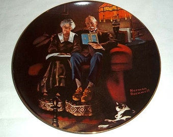 Knowles Norman Rockwell Collectors' Plate EVENING'S EASE / FOURTH in Light Campaign Series / Numbered