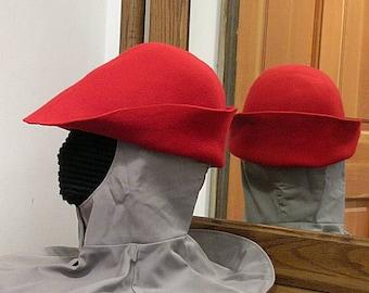 Wool Felt Hat - Gothic Bell - Renaissance Hood - Bucket SCA - 15th c.