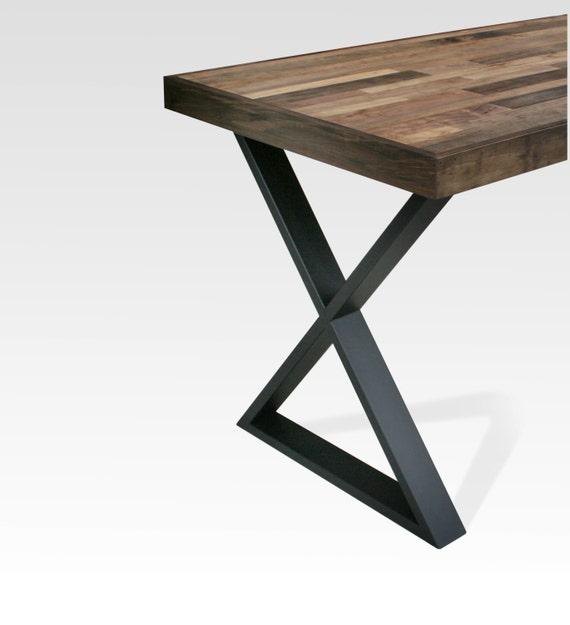 Table Legs Steel X Black Matte SINGLE LEG