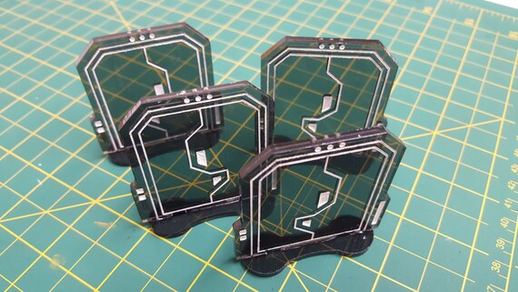 & Acrylic Door Tokens for use with Imperial Assault 4 pieces