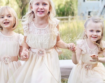 Charlotte flower girl dress ivory flower girl dress girls lace dress lace dress toddler lace dress boho girl dress flower girl dress lace