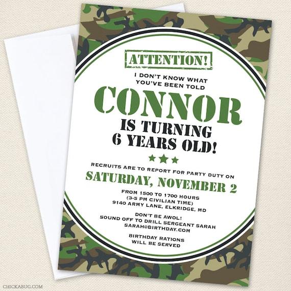 Camouflage Party Invitations Rome Fontanacountryinn Com
