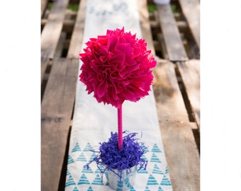 HOT PINK CENTERPIECE / Graduation party centerpiece / Centerpiece sweet 16 / Graduation party decorations / Graduation centerpiece