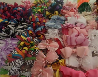 Hair Bows.Fun Fabulous. Boutique Quality. Made in USA. Assorted Selection of 10 Bows.