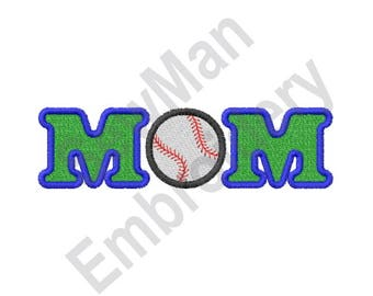 Baseball Mom- Machine Embroidery Design, Baseball, Mom