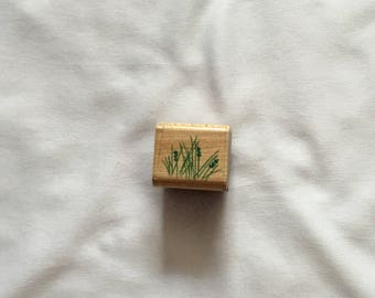 Used Rubber Stamp - Wild Grass - Rubber Stampede