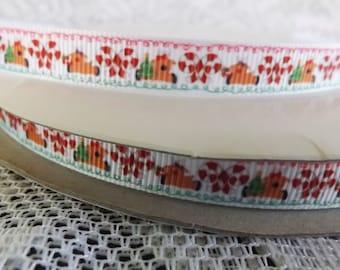Christmas ribbon 3/8 Christmas grosgrain ribbon candy cane ribbon