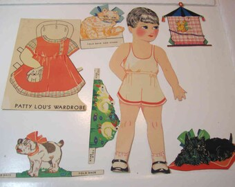 Vintage, rare Patty Lou paper doll  1928-1930's?
