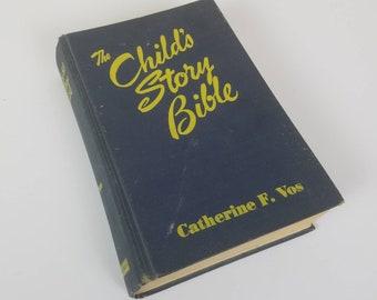 Vintage Child's Story Bible - navy blue cover - children's Bible - vintage books - 1961