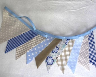 Bunting - sky blue / Taupe