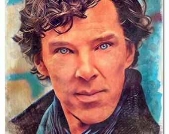Sherlock Holmes Watercolor Painting Artistic Press