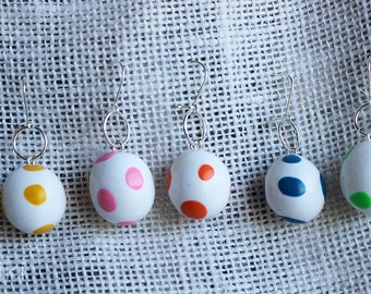 Earrings Yoshi eggs