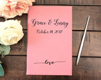 Wedding Guest Book, Custom Wedding Guestbook, Wedding Guest Book Alternative, Personalized, Rustic Guest Book, Grace And Lenny, JRN2