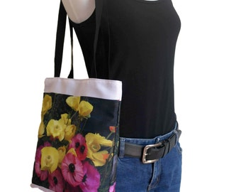 Floral Shopping Bag - ON SALE - 40% OFF - Handy Tote Bag