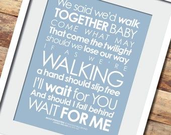 I wanna dance lyrics print with personalised message fans of bruce if i should fall behind lyrics print option to stopboris Choice Image