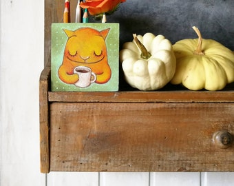 DILISA Wood pencilholder illustrated with love