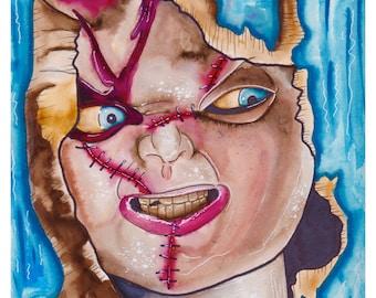 Chucky Art Print, Chucky, Bride of chucky, Child's play, horror art, horror print, horror fan, custom art print, horror art print, good guy