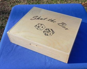 Handcrafted Shut the Box dice game