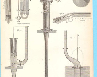 Antique scientific illustration - Pneumatics