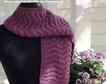 Plum Pretty Scarf Digital Knit Pattern