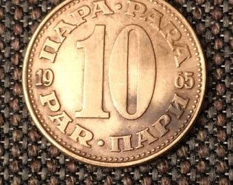 1965 Yugoslavia 10 Par