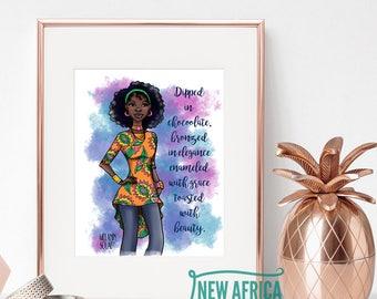 """Melanin Squad Art Print """"Assata"""", Art print - Unframed, African American Art, 8 x 10, 11 x 14"""