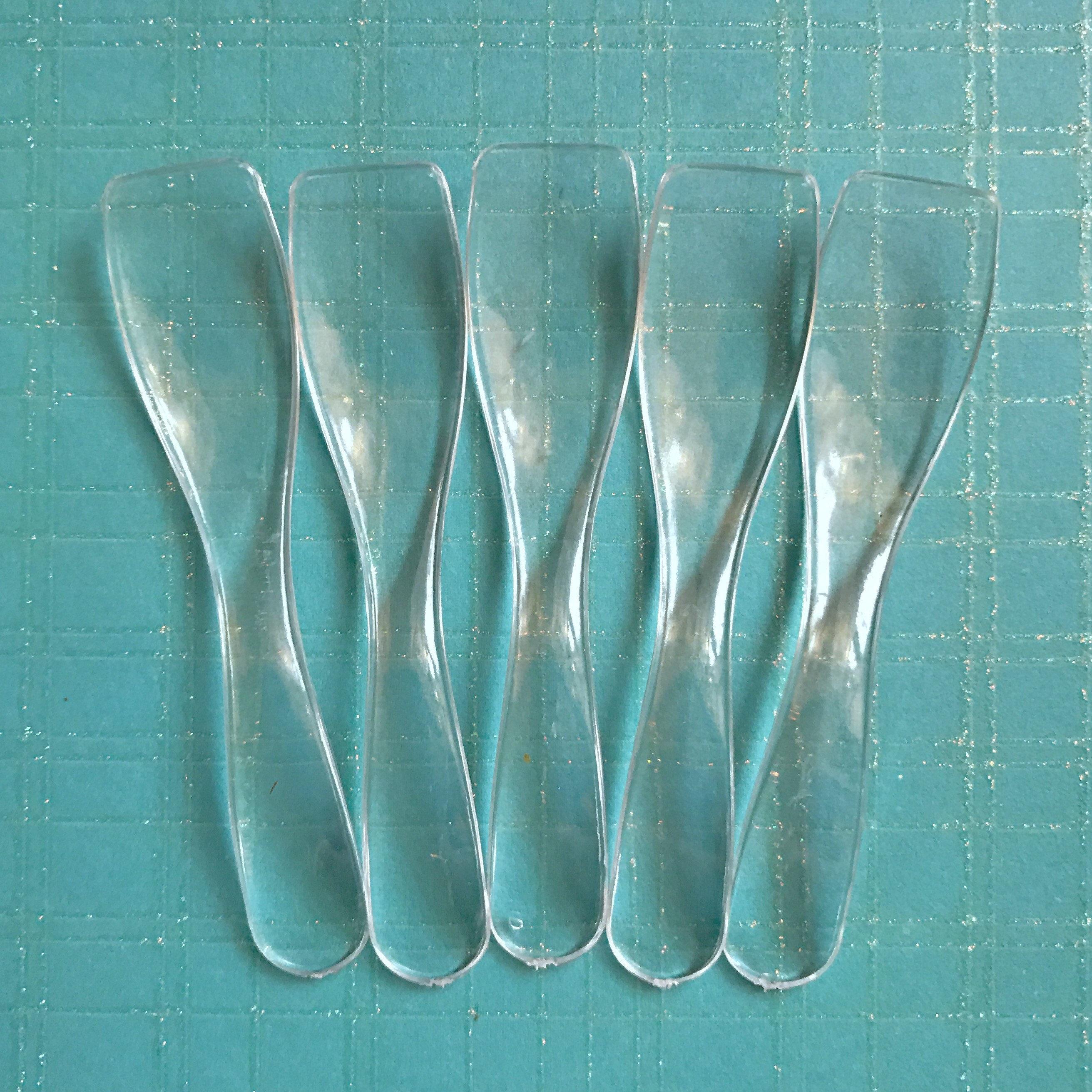 50- Curvy Clear Cosmetic Spoons, For Sugar Scrub, Body Butter ...