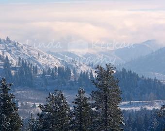 Winter Landscape in Levinworth Washington