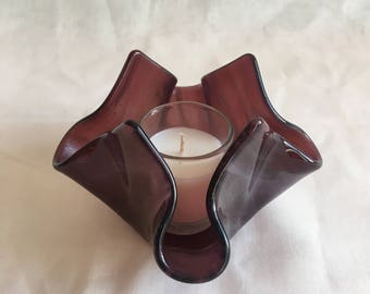 Purple Candle Holder