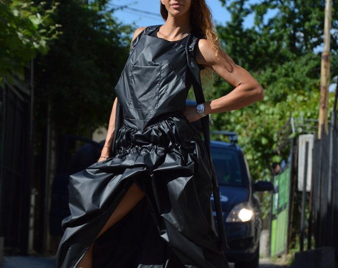 Plus Size Maxi Dress, Black Maxi Dress, Asymmetric Dress, Extravagant Long Dress, Party Dress, Black Kaftan by SSDfashion