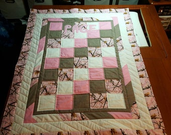 Personalized baby boy or girl quilt