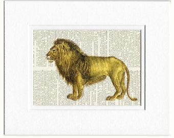 Lion dictionary page print