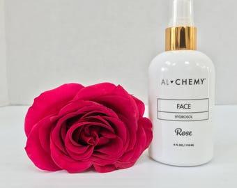 ALCHEMY-AUTHENTIC ROSE Hydrosol-Organic Rose Hydrosol-Bulgarian Rosa Damascena,Indie Beauty Brand,Organic Rose Water,Distilled Rose Hydrosol