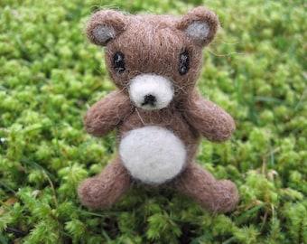 Miniature Poseable Bear Figure