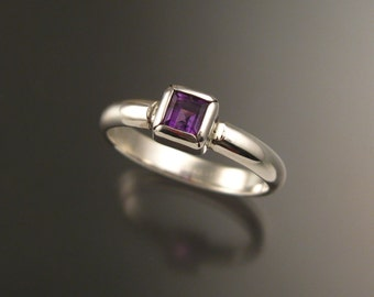 Amethyst ring Sterling Silver made to order in your size