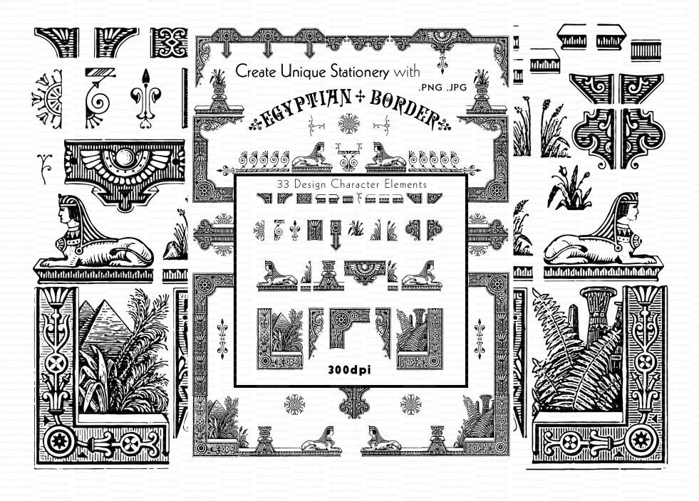 Erstellen von altägyptischen Thema Ränder und Rahmen