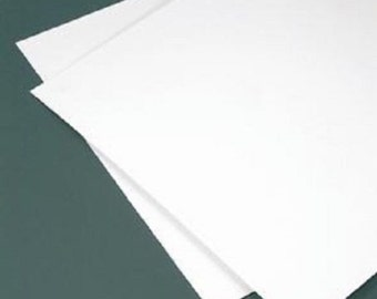 "5 Pack WHITE STYRENE Polystyren  Plastic Sheet - 12"" X 12"" - .040"" Thick - Printing crafs models"