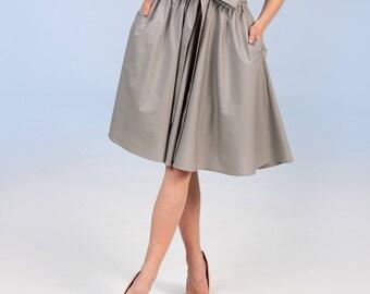 Cotton skirt - grey