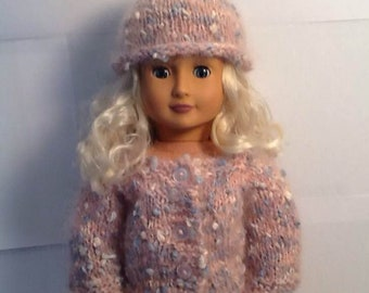 American Girl Doll  Mohair Hat and Sweater Set at NeedlesandPinsShop