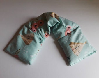 Heating Pad, Rice Heating Pad, Hot Cold Wrap, Microwave Heating Pad, Flax Seed, Scented or Unscented- Mint Tee Pee