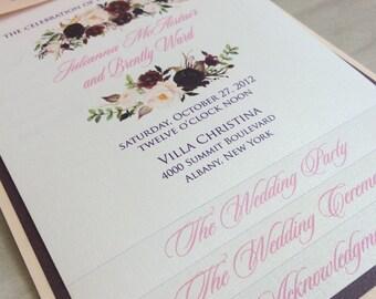 Layered wedding program