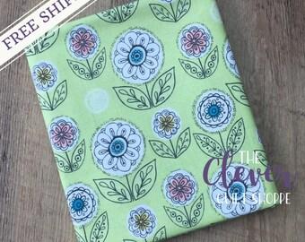 Quilting Fabric, Dutch Garden Green, Betz White, Riley Blake Designs, Yardage