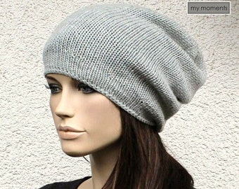 CAP slouch, Merino, light gray