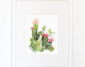 Cactus No. 4 - Watercolor Art Print