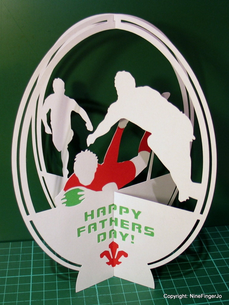 Rugby birthday card fathers day card valentines day card zoom kristyandbryce Image collections