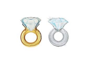 Bachelorette Party Decorations. Bridal Shower Favors. Diamond Engagement Ring Foil Balloon. Bridal Photo Prop Balloon. Bridal Shower Decor.